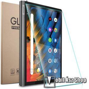 Előlap védő karcálló edzett üveg - 0, 3mm vékony, 9H, Arc Edge, A képernyő sík részét védi - Lenovo Yoga Smart Tab 10.1 (YT-X705) kép