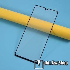 Előlap védő karcálló edzett üveg - FEKETE - 9H, Arc Edge, A TELJES KIJELZŐT VÉDI! - SAMSUNG Galaxy A41 (SM-A415F) kép