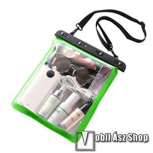 Vízhatlan / vízálló táska, AQUA - 30 méterig, vállpánt, 250 x 230mm - ZÖLD / ÁTLÁTSZÓ kép