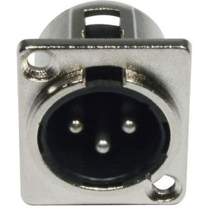 ADJ AC-C-XM3 XLR 3pin Male Panel Metal kép