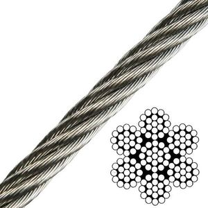 Talamex Wire Rope Stainless Steel AISI316 7x19 - 3 mm kép