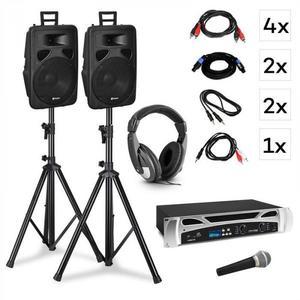 Vonyx Singapore, DJ rendszer - készlet, PA erősítő 2 x 500 W, 2 x 2-sávos hangszóró kép