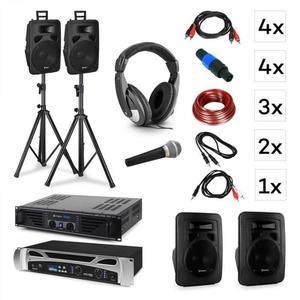 Vonyx Lisbon, DJ rendszer - szett + PA erősítő + PA hangszóró + DJ fejhallgató + mikrofon kép