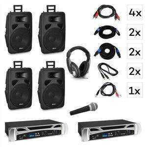 Vonyx Berlin Nights, DJ rendszer - készlet, erősítő, hangszóró, DJ fejhallgató, mikrofon kép