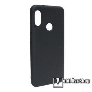 Szilikon védő tok / hátlap - MATT - FEKETE - Xiaomi Redmi 6 Pro / Xiaomi Mi A2 Lite kép