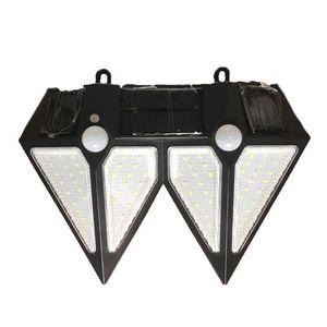 Kültéri napelemes dupla fali lámpa mozgásérzékelővel kép