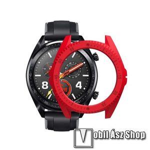 Okosóra műanyag védő tok / keret - Huawei Watch GT (46mm) - PIROS kép