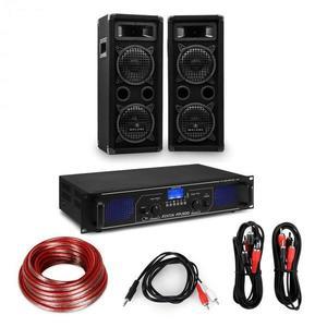 """Electronic-Star HiFi erősítő & hangfal szett, 2 x 250 W erősítő, 2 x hangfal, 6, 5"""", 300 W RMS kép"""