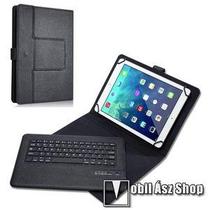 """UNIVERZÁLIS tablet PC flip / mappa bőrtok - 9"""" - 10""""-os készülékekhez, bluetooth billentyűzet, ANGOL KIOSZTÁS! - FEKETE kép"""