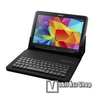 """UNIVERZÁLIS tablet PC flip / mappa bőrtok - 10""""-os készülékekhez, bluetooth billentyűzet, ANGOL KIOSZTÁS! - FEKETE kép"""