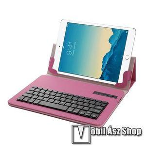 """UNIVERZÁLIS tablet PC flip / mappa bőrtok - 10""""-os készülékekhez, bluetooth billentyűzet, ANGOL KIOSZTÁS! - MAGENTA kép"""