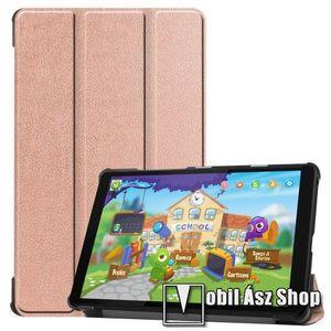 Notesz / mappa tok - ROSE GOLD - oldalra nyíló flip cover, TRIFOLD asztali tartó funkciós, erősített sarkok, mágneses záródás, műanyag belső - Lenovo Tab M8 (HD) / Lenovo Tab M8 (FHD) kép