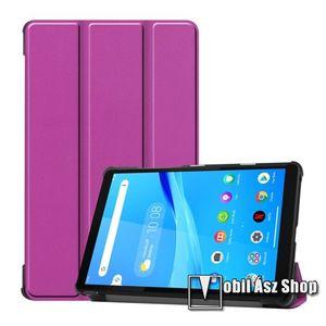 Notesz / mappa tok - LILA - oldalra nyíló flip cover, TRIFOLD asztali tartó funkciós, erősített sarkok, mágneses záródás, műanyag belső - Lenovo Tab M8 (HD) / Lenovo Tab M8 (FHD) kép