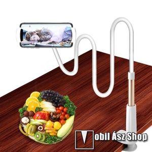 YESIDO C37 UNIVERZÁLIS tablet Pc és okostelefon állvány - asztallapra szerelhető, 112-190mm-ig állítható bölcső, elforgatható, flexibilis tartókarral kép
