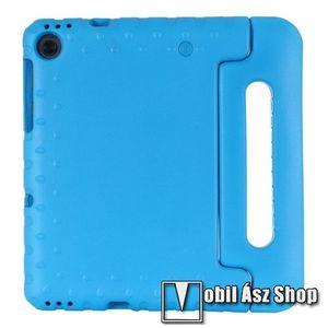 Shockproof műanyag védő tok / hátlap - VILÁGOSKÉK - hordozható, asztali tartó funkciós, ERŐS VÉDELEM! - Lenovo Tab M10 Plus (TB-X606F) kép