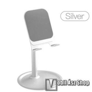 UNIVERZÁLIS alumínium asztali tartó / állvány - 5 ° ~ 45 °-os szöghez állítható, nem kihúzató!, csúszásgátló, 12 cm magas - EZÜST kép
