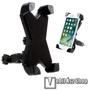 X-TREME telefon tartó kerékpár / bicikli - FEKETE - UNIVERZÁLIS - elforgatható - 100-160 mm-ig nyíló bölcsővel kép