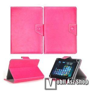 """UNIVERZÁLIS notesz / mappa tablet PC tok - MAGENTA - álló, bőr, mágneses záródás, asztali tartó funkciós, 10""""-os készülékekhez kép"""