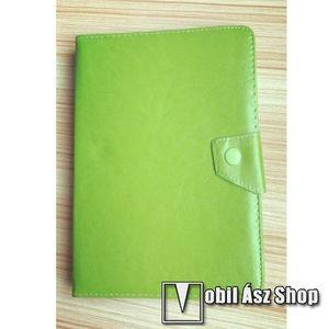 """UNIVERZÁLIS notesz / mappa tablet PC tok - ZÖLD - álló, bőr, mágneses záródás, asztali tartó funkciós, 10""""-os készülékekhez kép"""