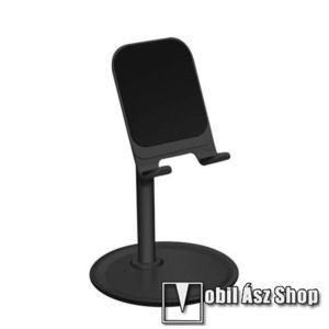 UNIVERZÁLIS alumínium asztali tartó / állvány - 10 ° ~ 45 °-os szöghez állítható, nem kihúzató!, csúszásgátló - FEKETE kép
