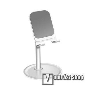 UNIVERZÁLIS alumínium asztali tartó / állvány - 10 ° ~ 45 °-os szöghez állítható, nem kihúzató!, csúszásgátló - EZÜST kép