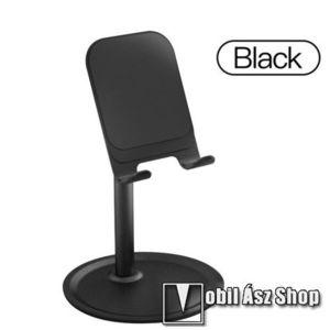 UNIVERZÁLIS alumínium asztali tartó / állvány - 5 ° ~ 45 °-os szöghez állítható, nem kihúzató!, csúszásgátló, 12 cm magas - FEKETE kép