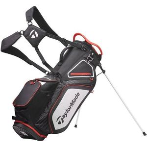 TaylorMade Pro Stand 8.0 Stand Bag Black/White/Red 2020 kép