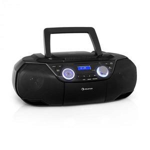 Auna Roadie 2K, boombox, CD lejátszó, kazettás rádió, DAB/DAB+, UKW, bluetooth, fekete kép