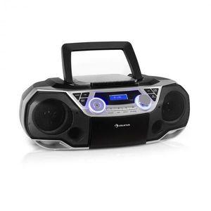 Auna Roadie 2K, boombox, CD lejátszó, kazettás rádió, DAB/DAB+, UKW, bluetooth, ezüst kép