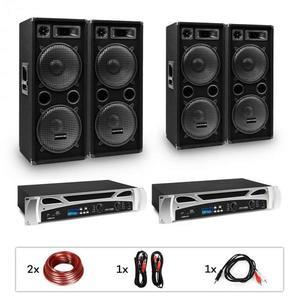 """Electronic-Star eStar Bangkok Rhythm, DJ rendszer, szett, 2 x PA erősítő, 2 x 500 W, 4 x subwoofer, 2 x 12"""" kép"""