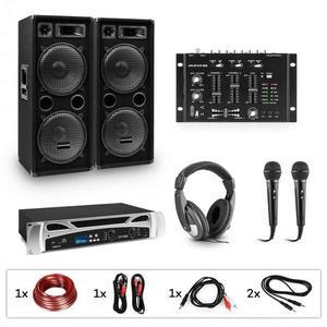 Electronic-Star eStar Block-Party II, DJ rendszer, szett, PA erősítő, DJ mixer keverő pult, 2 x subwoofer, fejhallgató kép
