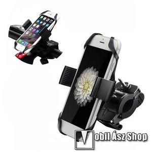 """X-TREME telefon tartó kerékpár / bicikli - FEKETE - UNIVERZÁLIS - elforgatható - 4, 7-6, 5""""-os méretig használható bölcsővel kép"""
