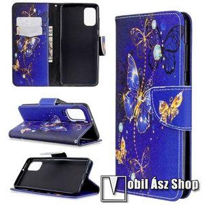 Notesz / mappa tok - PILLANGÓ MINTÁS - oldalra nyíló, rejtett mágneses záródás, belső zseb, asztali tartó funkció, szilikon belső - SAMSUNG Galaxy A41 (SM-A415F) kép