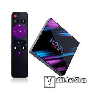 H96 Max HDMI TV okosító - Android 9.0, [2GB/16GB], 2.4//5G RK3318 Quad Core 64 Bit UHD 4K WiFi BT4.0, távirányítóval, kártyaolvasó, 2x USB port, 4k 4096×2160 felbontásra is képes! - FEKETE kép
