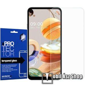 Xpro előlap védő karcálló edzett üveg - 0, 33 mm vékony, 9H, Arc Edge, A képernyő sík részét védi - LG K61 / LG K51S - GYÁRI kép
