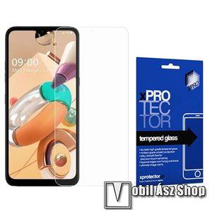 Xpro előlap védő karcálló edzett üveg - 0, 33 mm vékony, 9H, Arc Edge, A képernyő sík részét védi - LG K41S - GYÁRI kép