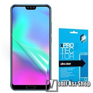 Xpro képernyővédő fólia - Clear - 1db, törlőkendővel, A képernyő sík részét védi! - HUAWEI Honor 10 - GYÁRI kép