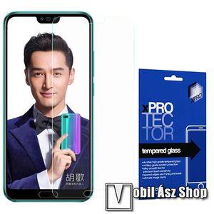 Xpro előlap védő karcálló edzett üveg - 0, 33 mm vékony, 9H, Arc Edge, A képernyő sík részét védi - HUAWEI Honor 10 - GYÁRI kép