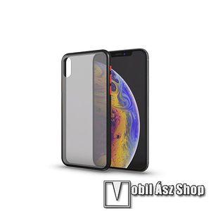 Xpro szilikon védő tok / hátlap - MATT! - FEKETE / ÁTTETSZŐ - színes gombokkal - APPLE iPhone SE (2020) / APPLE iPhone 7 / APPLE iPhone 8 - GYÁRI kép
