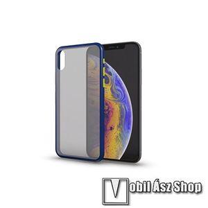 Xpro szilikon védő tok / hátlap - MATT! - KÉK / ÁTTETSZŐ - színes gombokkal - SAMSUNG SM-A217F Galaxy A21s - GYÁRI kép