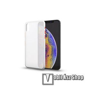 Xpro szilikon védő tok / hátlap - MATT! - FEHÉR / ÁTTETSZŐ - színes gombokkal - SAMSUNG SM-A217F Galaxy A21s - GYÁRI kép