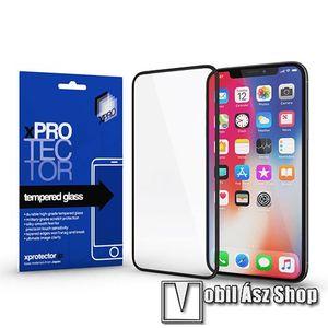 Xpro előlap védő karcálló edzett üveg - FEKETE - 9H, 0, 33mm - A TELJES KIJELZŐT VÉDI! - APPLE iPhone 11 Pro Max / APPLE iPhone XS Max - GYÁRI kép