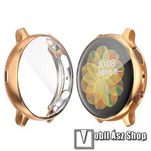 Okosóra szilikon védő tok / keret - Szilikon előlapvédő is - SAMSUNG Galaxy Watch Active2 40mm - ROSE GOLD kép