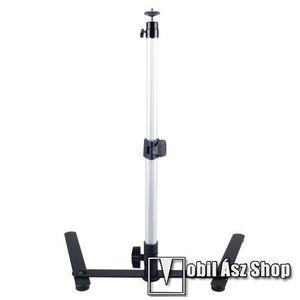 UNIVERZÁLIS asztali tartó / fotó állvány - monopod, 60-100mm-es bölcsővel, 360 fokban forgatható, dönthető, állítható magasság 30-45cm-ig - FEKETE / EZÜST kép