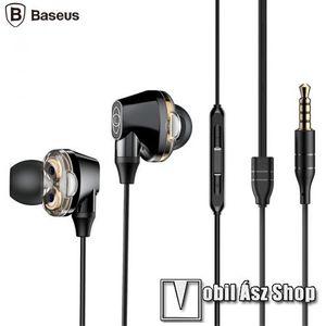 BASEUS ENCOK H10 fülhallgató SZTEREO (3.5mm jack, nyakba akasztható, mikrofon, dinamikus hangzás) FEKETE - NGH10-01 - GYÁRI kép