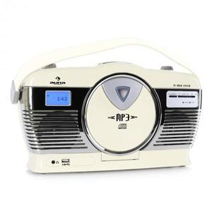Auna RCD-70 retró rádió, FM, USB, CD, elem, krémszínű kép