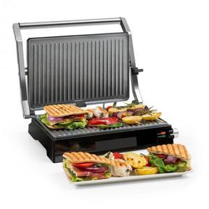 Klarstein Buffalo, kontaktgrill, panini grill, 2000 W, rozsdamentes acél, ezüst/fekete kép