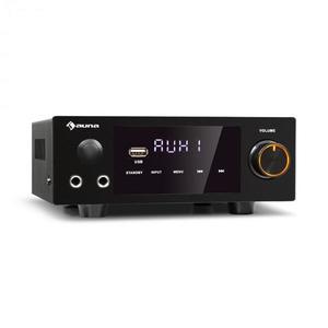 Auna AMP-2 DG, sztereó HiFi erősítő, 2 x 50 W, RMS, BT/USB, digitális optikai & koaxiális bemenet kép