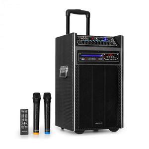 "Auna Pro DisGo Box, hordozható DVD PA rendszer, max. 300 W, 2 x 10 ""woofer, DVD, BT kép"