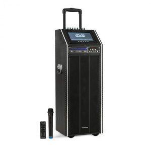 "Auna Pro DisGo Box 2100 DVD, hordozható PA rendszer, max. 300 W, 9"" TFT kijelző, DVD kép"